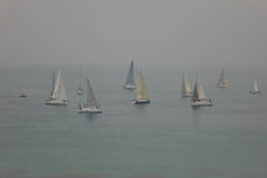 Yachts in Haze Royalty Free Stock Photography