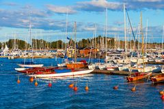 Yachts in Helsinki, Finland Royalty Free Stock Image
