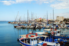 Yachts in Heraklion Stock Images