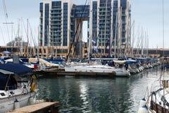 Yachts in Herzeliya Marina Israel Stock Photography