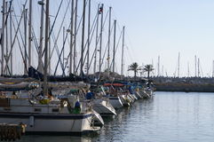 Yachts in Herzlia marina. Yachts in Israel royalty free stock photography