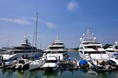 Yachts at Hongkong gold coast Royalty Free Stock Photo