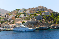 Yachts and houses - Greece Islands Stock Photography