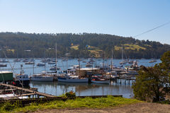 Yachts in Kettering, Tasmania Stock Image