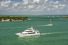 Yachts in Key West stock photography