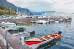 Yachts on lac du Bourget in France Stock Photos