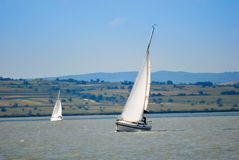 Yachts on the lake Stock Images