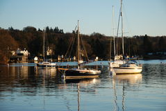 Yachts on Lake Windermere Royalty Free Stock Image
