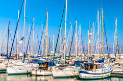 Yachts at Larnaca Marina. Cyprus Royalty Free Stock Image