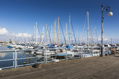 Yachts in Larnaca port, Cyprus. Royalty Free Stock Image