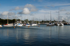 Yachts at Lymington. Sailing yachts moored on the Solent at Lymington in the New Forest, Hampshire Stock Photography