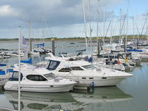 Yachts in Malahide, Dublin. Many yachts lying at Dockyard in Dublin, Ireland royalty free stock photography
