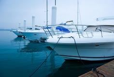 Yachts at marina Stock Photography