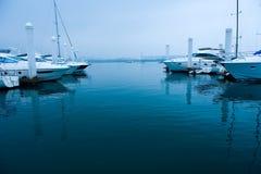 Yachts at marina Royalty Free Stock Photos