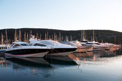 Yachts at marina Royalty Free Stock Images