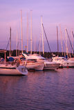 Yachts in marina Stock Photography