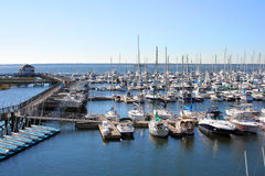 Yachts in marina Royalty Free Stock Images