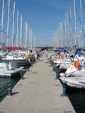 Yachts in marina Stock Photo