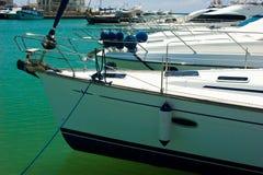 Yachts in marina Stock Image