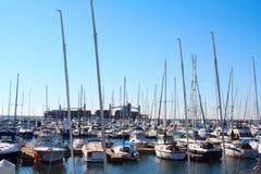 Yachts in marina Stock Photography