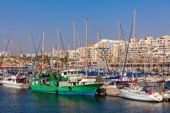 Yachts on marina in Ashkelon, Israel. Royalty Free Stock Photo