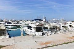 Yachts At Marina Stock Images
