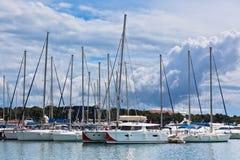 Yachts in marina Stock Photos