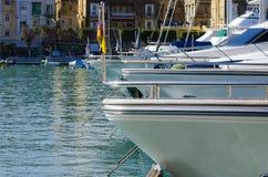 Yachts, marina de Cottonera, Malte Photo libre de droits