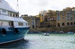 Yachts, marina de Cottonera, Malte Photographie stock