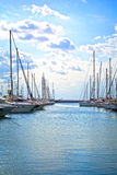 Yachts in a marina Royalty Free Stock Photos