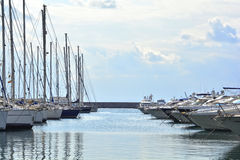 Yachts in a marina Stock Image