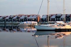 Yachts on marina in Groningen Royalty Free Stock Image