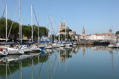 Yachts in the marina of La Rochelle Royalty Free Stock Photo