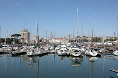 Yachts in the marina of La Rochelle Stock Photo