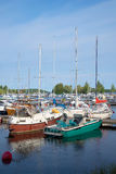 The yachts in the marina of Lappeenranta of august day. Lappeenranta, Finland Stock Image