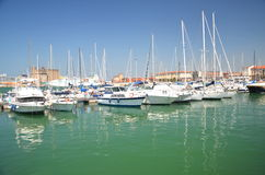 Yachts in marina in Livorno, Italy Royalty Free Stock Photos