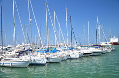 Yachts in marina in Livorno, Italy Stock Photos