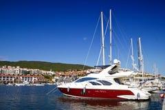 Yachts on the marina Royalty Free Stock Photos