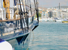 Yachts in the marina. Luxury boats in the marina Stock Images