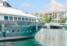 Yachts in the marina. Luxury boats in the marina Royalty Free Stock Photography