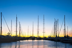 Yachts at Marina Stock Photos