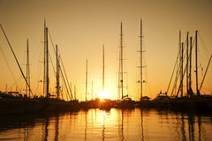 Yachts at Marina Royalty Free Stock Photos