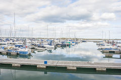 Yachts at marina Stock Photos