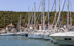 Yachts at Marina Stock Photo