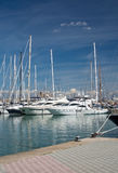 Yachts in the marina Royalty Free Stock Photography