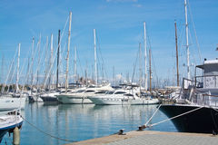 Yachts in the marina Royalty Free Stock Image