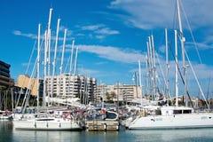Yachts in marina Royalty Free Stock Image