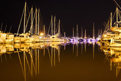 Yachts at the marina Royalty Free Stock Photo