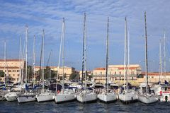 Yachts in the marina, Sardinia Royalty Free Stock Photography