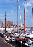 Yachts in marina, Volendam. Royalty Free Stock Image
